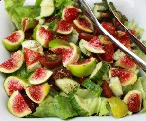 Fig salad at the Retreat in Le Marche, Italy