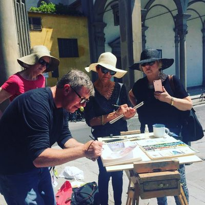 26th September – 3rd  October 2020 Florence Watercolour Course